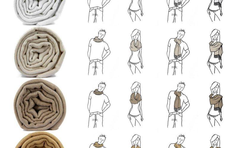 Il existe presque autant de manières de porter une écharpe qu il existe  d écharpe. Longue, petite, légère, ajourée, unie, bicolore, l écharpe se  décline en ... f24a12197b6